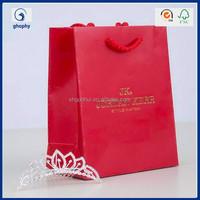flat handle kraft paper bag, luxury black paper bag