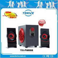 computer accessories -audio -wooden speaker 2.1 channel