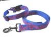 Dog leashes & collars adjustable pets lead webbing strap