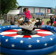 Newest inflatable mechanical riding bull,hot sale inflatable rodeo bull