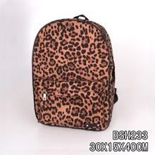 2015 leopard printed fashional double shoulder strap bag