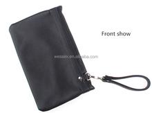New Custom Men's Wallet Bag Black Business Clutch Bag PU Purse Handbag Totes