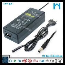 High quality for 3d printer 12v 3a 36w ac dc desktop type power supply