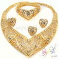 traje grande conjuntos de jóias africano ouro jóias folheadas definir china fornecedor