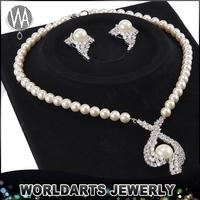 Beautiful CZ White Stone Glass Beads Imitation Pearl fashion jewelry 2015