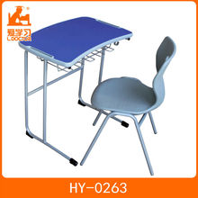 School sets school furniture wooden desk and plastic chair with cheap price
