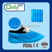 Disposable nonsterile dark blue nonwoven dance shoe covers