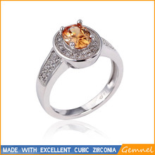 yellow gold diamond jewelry the ring for women