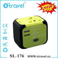 USA universal travel adapter with 2 usb ports