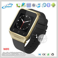 New !!! 5.0M Prepositive camera 3G android OS 4.4 jav wifi watch phone with user manual music speaker