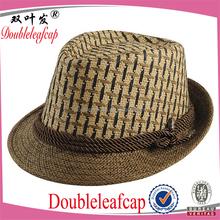 Custom Design Fashion Jazz Straw Fedora Hat Man Fedora Hat