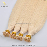 Golden Supplier Top Quality Keratin Glue No Tangle Long Lasting Remy double drawn remy hair extension i tips
