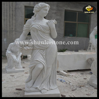 Natural marble stone sculpture statue woman