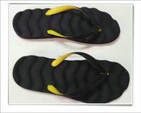 Lady man beach massage double color strap slipper