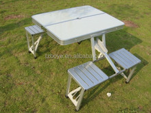 Brand New Aluminium Portable Foldable Picnic Camping Set Promotion Table with 4 Chairs