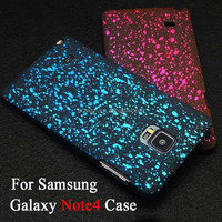 Newest 3D Starry Sky Glitter Star Hard Case for Samsung Galaxy Note4 case Covers with amazing 3D Visual Effect Cell phone cases