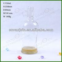 750ML Single Amphora Glass Bottle for Oil