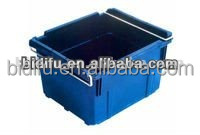 stackable and reusable solid style plastic storage baskets for all industries