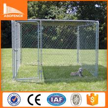 10x10x6 foot galvanized chain link dog run kennel / outdoor dog run kennel
