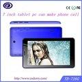 7 polegadas barato telefone gsm chamada tablet android, tablet pc com a função de telefone