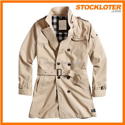 150304-1d 2015 Outlet coat overstock Fashion ladies trenchcoat closeout surplus