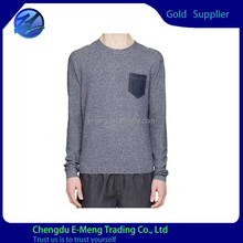 Wholesale Mens New Style Pocket Fashion Long Sleeve Tshirt