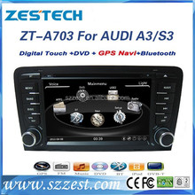 ZESTECH touch screen car stereo car dvd player for AUDI A3/S3/RS3 with GPS/Bluetooth/DVD/CD/MP3/Mp4/Steering wheel control
