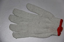 7/10 gauge white knitted cotton gloves manufacturer in china/pig working gloves