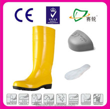 Waterproof Yellow Safety Gumboots ,wholesale Durable Rubber Rain Boot