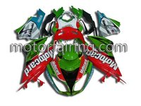 NEW ABS Quality Motorcycle fairing kit/motorcycle body work for Ninja 09-10 kawasaki zx6r body kit green/red