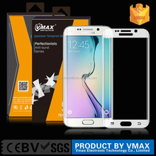 Newest !! top quality 0.33mm 9H full screen full cover screen protector for galaxyS6 edge tempered glass screenprotector OEM/ODM