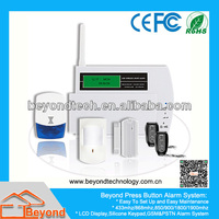 LCD Display GSM Wireless Smart Home Alarm System