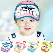 MZ1988 Hot sale 3 D modelling big eyes baby visor hat (4 color)