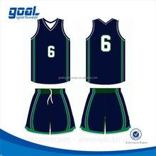 Wholesale cheap school 100%polyester cheap basketball uniforms