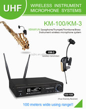UHF Wireless Condenser Saxophone Microphone For Personal Performance