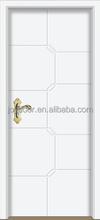 simple design white MDF door solid wooden interior door for room
