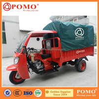 2015 China Popular Semi-closed Cabin Double Rear Wheel Heavy Load 300CC Gasoline Cargo 4 Wheel Tricycle