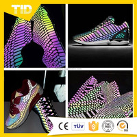New Design PU Shoe Upper Reflective Material For Shoes