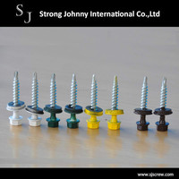 Hex washer head with reduced drilling point screw