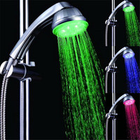 3 colors Sell Portable and Popular Homely Used LED bath toilet hand shower