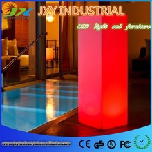 Changeable colors indoor plastic glowing led decoration pillar for club