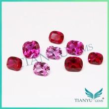2015 wuzhou gemstone free samples natrual stone different shape synthetic ruby stone prices