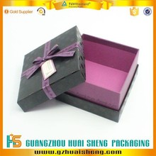 Cute matte black patterned cardboard storage boxes with side wall