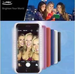 Luxury Lumee luminated LED Case Selfie PC Plastic Hard Case for iPhone 5/5s Phone Cover Case 4Colors