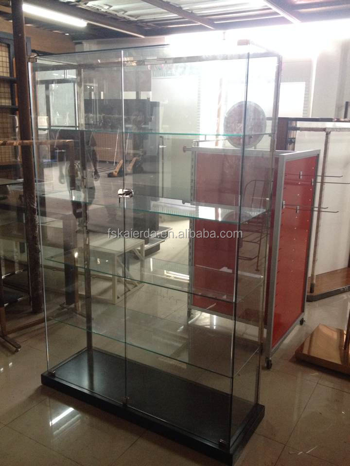 Ovale verre vitrine verre sans cadre armoire affichage for Meuble alibaba montreal