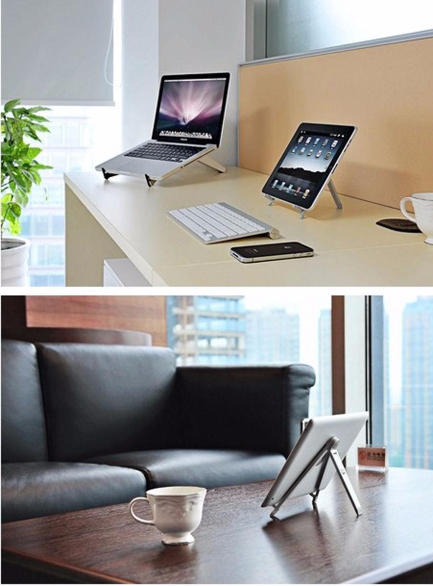 portable solide pliable mobile t l phone aluminium tablet titulaire stand pour ipad pro autres. Black Bedroom Furniture Sets. Home Design Ideas