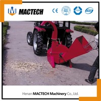 two hydraulic feeding rollers pto driven wood chipper for sale, mobile wood chipper, diesel wood chipper