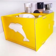 Wood DIY multi-function tissue box Receive a case remote desktop boxes pencil boxes