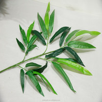 Artificial Bamboo Leaves Green Artificial Plant Leaves For Tree Decorative