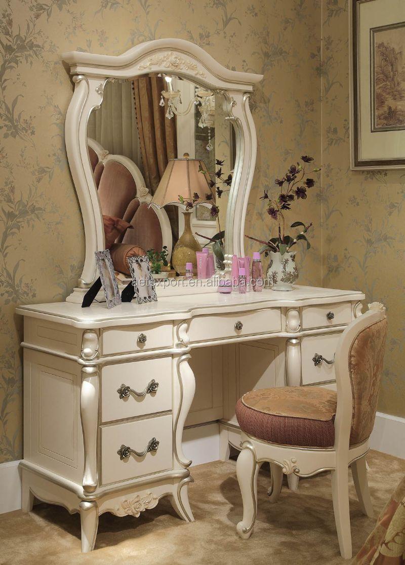 고전적인 프랑스 로코코 스타일의 침실 세트 나무 손 조각 침실 ...